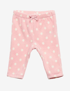 Baby Print Fleece Pull-On Pants - bottoms - pink standard