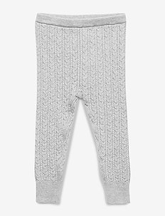 Baby Cable-Knit Sweater Leggings - B10 GREY HEATHER