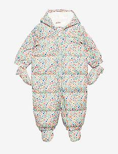 Baby ColdControl Ultra Max Down Snowsuit - snowsuit - white floral print