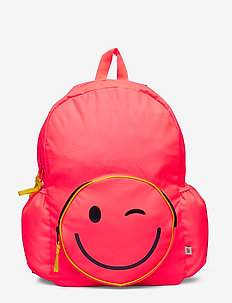 Kids Emoji Senior Backpack - NEON CORAL SPRINT