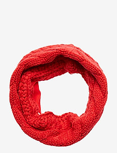 Kids Cable-Knit Neckwarmer - halstørklæder & tørklæder - modern red 2