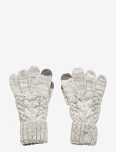 Kids Cable-Knit Smartphone Gloves - gants - b10 grey heather