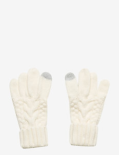 Kids Cable-Knit Smartphone Gloves - gants - ivory frost