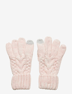 Kids Cable-Knit Smartphone Gloves - gants - pink standard
