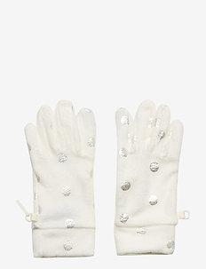 Kids Fleece Dot Gloves - IVORY FROST