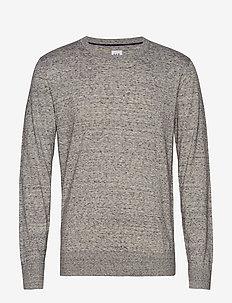 Mainstay Crewneck Sweater - HEATHER GREY