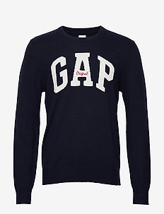 TAO BAO INTARSIA CREW - knitted round necks - true navy v2
