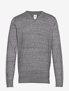V-CORE COTTON VEE - basic knitwear - medium grey heather