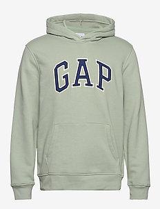 Gap Logo Pullover Hoodie - bluzy z kapturem - fire opal