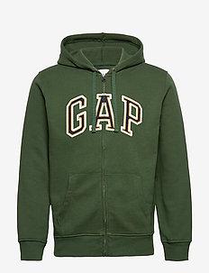 Gap Logo Full-Zip Hoodie - pulls à capuche - climbing ivy 19-0307t