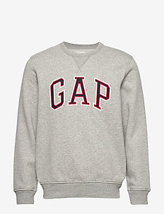 Gap Logo Crewneck Sweatshirt - basic sweatshirts - b10 grey heather