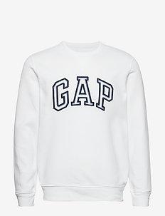 Gap Logo Crewneck Sweatshirt - basic sweatshirts - fresh white