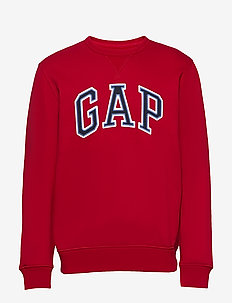 Gap Logo Crewneck Sweatshirt - basic sweatshirts - lasalle red