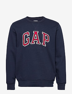 Gap Logo Crewneck Sweatshirt - basic sweatshirts - tapestry navy