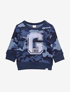 Toddler Print Crewneck Sweatshirt - BLUE CAMO