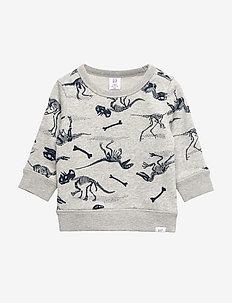 Toddler Print Crewneck Sweatshirt - LIGHT HEATHER GREY V6