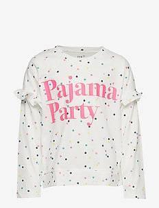 Kids Ruffle Graphic PJ Set - MILK 600 GLOBAL