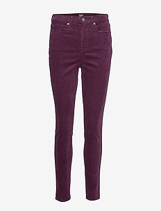 High Rise True Skinny Cords with Secret Smoothing Pockets - RICH WINE