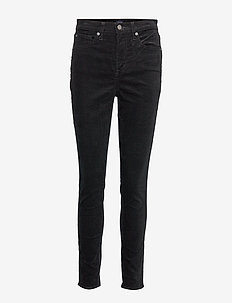High Rise True Skinny Cords with Secret Smoothing Pockets - TRUE BLACK V2 2