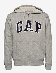 XLS FT ARCH FZ HD - basic sweatshirts - b10 grey heather