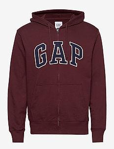 XLS FT ARCH FZ HD - basic sweatshirts - pinot noir 796