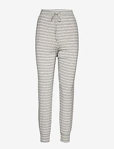 Truesleep Modal Joggers - raka byxor - grey stripe