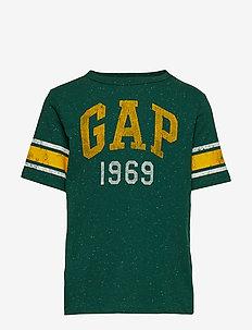 Kids Gap Logo Football T-Shirt - EVERGREEN GLAMOUR