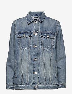 Distressed Oversized Icon Denim Jacket - vestes en jean - medium indigo 8