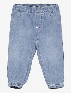 Baby Jersey-Lined Joggers - jeans - light wash indigo 118
