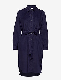 MRKT EXCL CORD MIDI SHRTDRS - shirt dresses - navy uniform v2