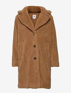 Teddy Coat - fausse fourrure - holiday cocoa