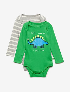 Baby Dino Bodysuit (3-Pack) - manches longues - lush green