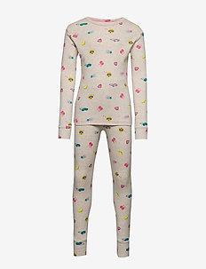 Kids Emoji PJ Set - OATMEAL HEATHER B0281