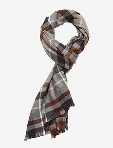 Cozy Pattern Scarf - CHARCOAL PLAID