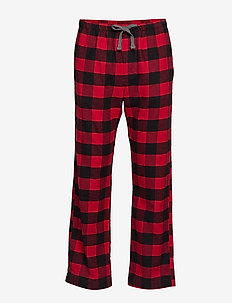 Flannel Pajama Pants - underdele - buffalo check red
