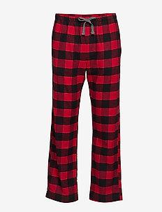 Flannel Pajama Pants - bottoms - buffalo check red