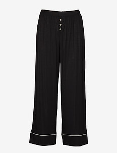 Ankle Flare Pants in Modal - pantalons larges - true black