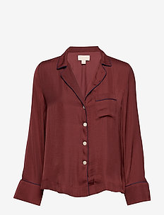 Dreamwell Satin Shirt - CARMENERE 525