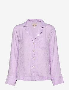 Dreamwell Satin Shirt - LT PURPLE JAQUARD