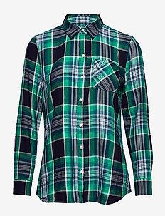 Plaid Flannel Shirt - GREEN PLAID