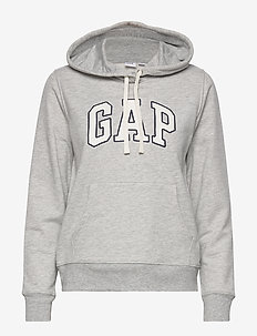 Gap Logo Pullover Hoodie - LIGHT HEATHER GREY