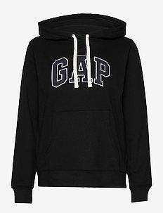 Gap Logo Pullover Hoodie - hættetrøjer - true black