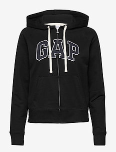Gap Logo Full-Zip Hoodie - hoodies - true black