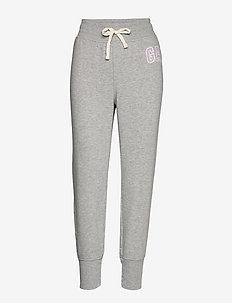 Gap Logo Joggers in French Terry - LIGHT HEATHER GREY