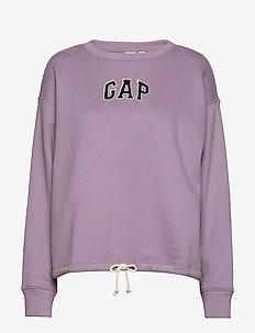 Gap Logo Tie-Hem Crewneck Sweatshirt - AMETHYST