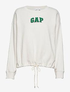 Gap Logo Tie-Hem Crewneck Sweatshirt - CARLS STONE