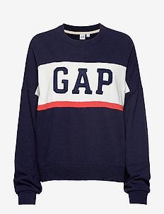 Gap Logo Colorblock Crewneck Sweatshirt - NAVY UNIFORM