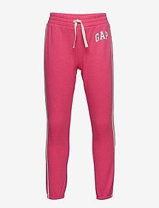 Kids Gap Logo Joggers - sweatpants - pink jubilee nylon on