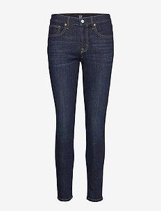 Mid Rise True Skinny Jeans - RINSED