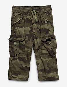 Toddler Lined Cargo Pants - GREEN CAMO